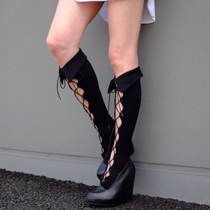Lace-up high BLACK