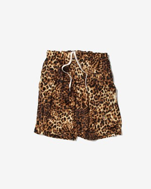 LEOPARAD RELAX SHORTS / BROWN
