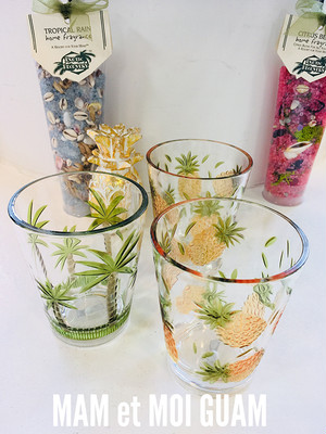 Palm Tree/Pineapple Glass