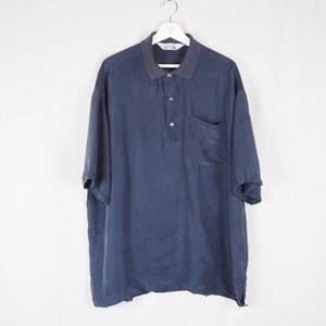 Silk Shirt Pullover Navy