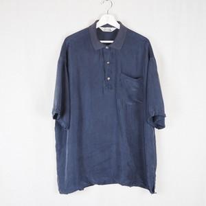 Silk Shirt Pullover Navy