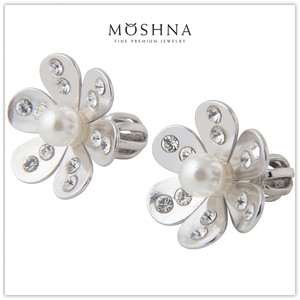 【MOSHNA:モシュナ】SILVER EARRINGS PEARL BLOSSOM