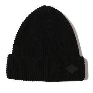 WAFFLE STITCH KNIT CAP (BLACK) / RUDE GALLERY BLACK REBEL