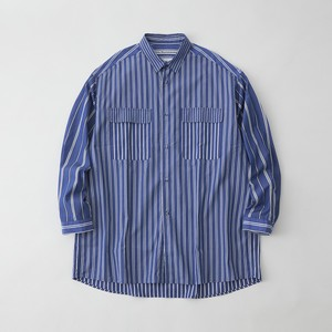 MULTI STRIPE WIDE SHIRT - BLUE