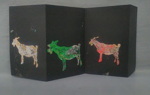 paper object Goats  ヤギ×3