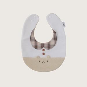 つみきどうぶつのおめかしbib(コーヒー牛乳)