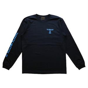 【HELLOWPRESSURE L/S tee】black/blue