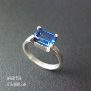 Octagon Ring - BLUE