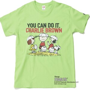 "PEANUTS ""YOU CAN DO IT"" S/S TEE - LIME"
