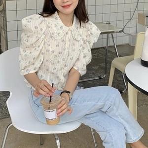 レーシーフラワーバブルシャツ U5550