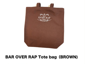 【BAR OVERRAP】 Tote bag (Brown)