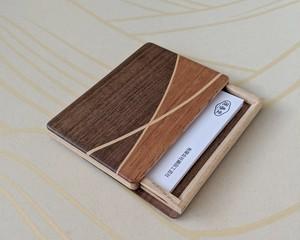 【ギフト用におすすめ】 木製 寄木 名刺入れ/カードケース【C】 【送料無料】