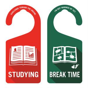 STUDYING(勉強中)[1003] 【全国送料無料】 ドアノブ ドアプレート メッセージプレート