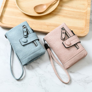【bag】 short paragraph small  student personality folding multi-function  purse