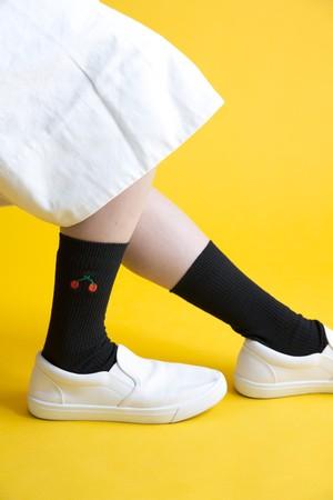 【9月イベント販売】【sunsunさま取扱】食べもの刺繍ソックス(全20種)