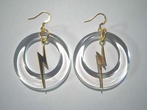 Circle thunder pierced earring