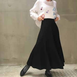 vintage black flare skirt