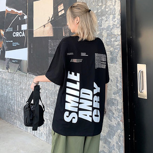 【トップス】ストリート系半袖ラウンドネックプルオーバーTシャツ42584441