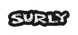 "SURLY ""LOGO PATCH"" BLACK/WHITE"