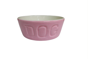 BAUER DOG BOWL / TWO TONE バウアードッグボウル・ツートン ピンク/ホワイト Sサイズ 【犬用フードボウル】
