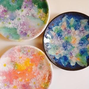 花模様  食卓皿  小