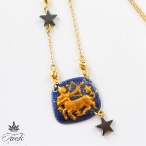 【ラッキーカラー紫】Wonder Box Zodiac 射手座 ネックレス