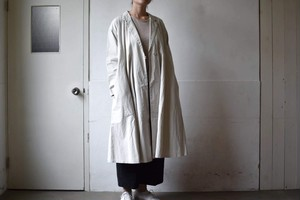 panel flare coat(COTTON TWILL BIO-WASH)/ miho umezawa