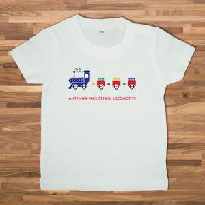 【ベビー】汽車 Tシャツ/ホワイト【CWE-094BWH】