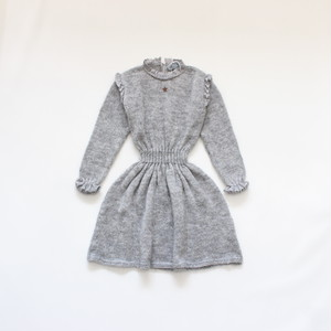 tocoto vintage knitted waistband dress  GREY
