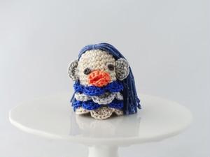 アマビエの指人形(ブルー2)