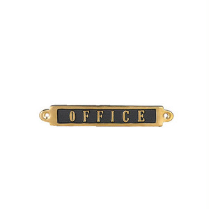 "【GS559-326OF】Brass sign ""OFFICE"" #サイン #真鍮 #アンティーク"