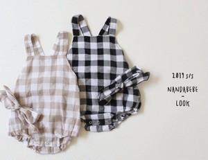 《韓国子供服》チェックセットアップ(バンド含む) ※予約商品