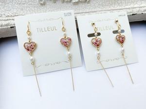 【TILLEUL】花とパールのピアス/イヤリング No.4