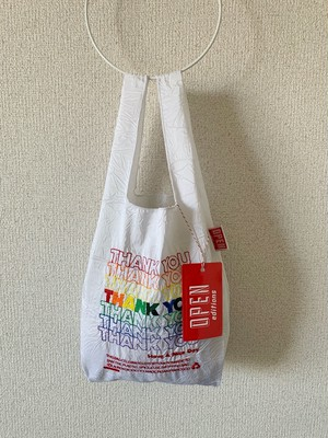【OPEN EDITIONS / 送料無料】THANK YOU MINI エコバッグ/ THANK YOU White×Multi