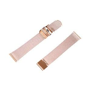 腕時計用 メッシュ替えベルト 18mm幅 161030 ローズゴールド