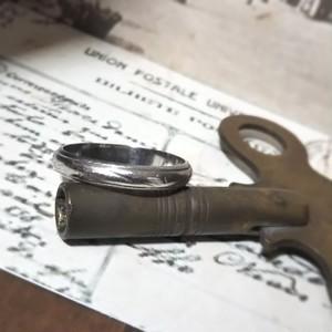 プラチナリング (検索用 pt900 #13 レトロ アンティーク ヴィンテージ 指輪 mar17)