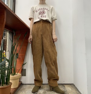 1980s MADE IN USA NEW EXPRESSIONS wide wale corduroy pants 【M位】