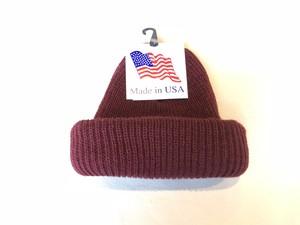 KNIT CAP MADE IN USA - BURGANDY