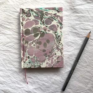 すずめや×mai marble.  マーブリング染布地のノート 02