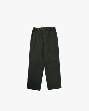RELAX PIQUE WORK PANTS  / OLIVE