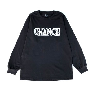 CHANCEGF LETTER L/S TEE - BLACK