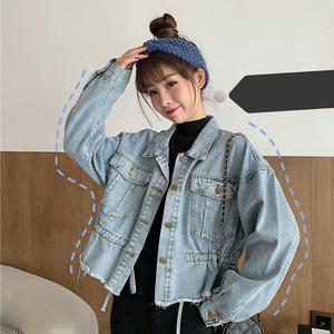 【トップス】人気新作春服着痩せ合わせやすいカジュアルデニムシャツ