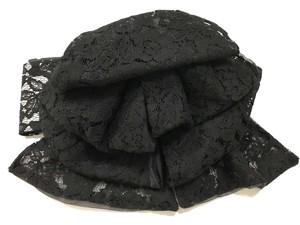 黒レース⑤のふわふわ帯 【作り帯】