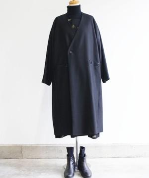 ラグラン切り替えコート ブラック (evh531-BLK)