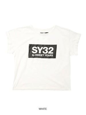 SY32 【Women's】ROLL UP BOX LOGO TEE(9057J)