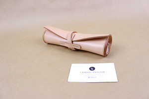 JAPAN LANSUI DESIGN 名入れ対応 ヌメ革手作り手縫い ペンケース 品番HNDF9234DF