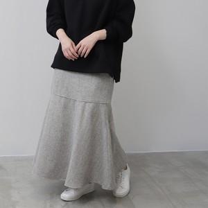 ヘリンボン起毛裾切替スカート FLC21040