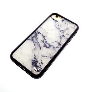 ワイルドフラワー WILDFLOWER スマホケース iPhone6/6S/7/8対応 CASE  レディース MARB20167 MARBLE ホワイト マーブル