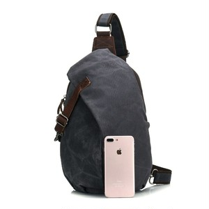 Waterproof Canvas Messenger Crossbody Bag Casual Vintage Bag カジュアル クロスボディ ビンテージ 防水 (YYB0-1255858)