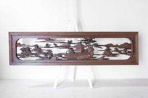 近江八景厚彫り欄間